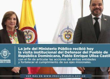Procuradora Margarita Cabello promueve trabajo interinstitucional con la Defensoría del Pueblo de República Dominicana